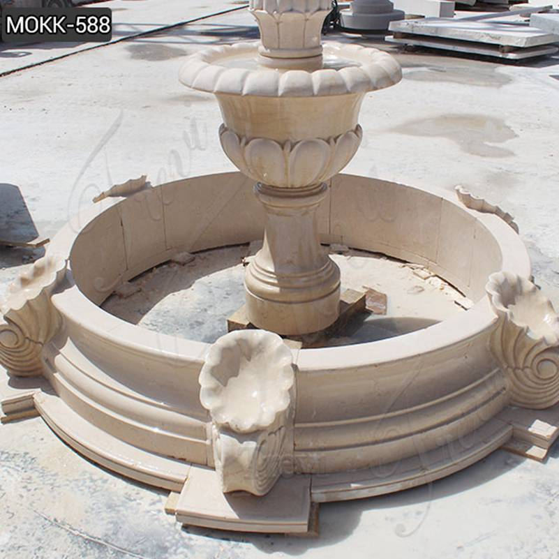 Beige Marble Stone Fountains Wholesale