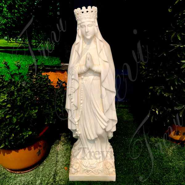 Catholic Garden Praying Mother Madonna Marble Statue Suppliers