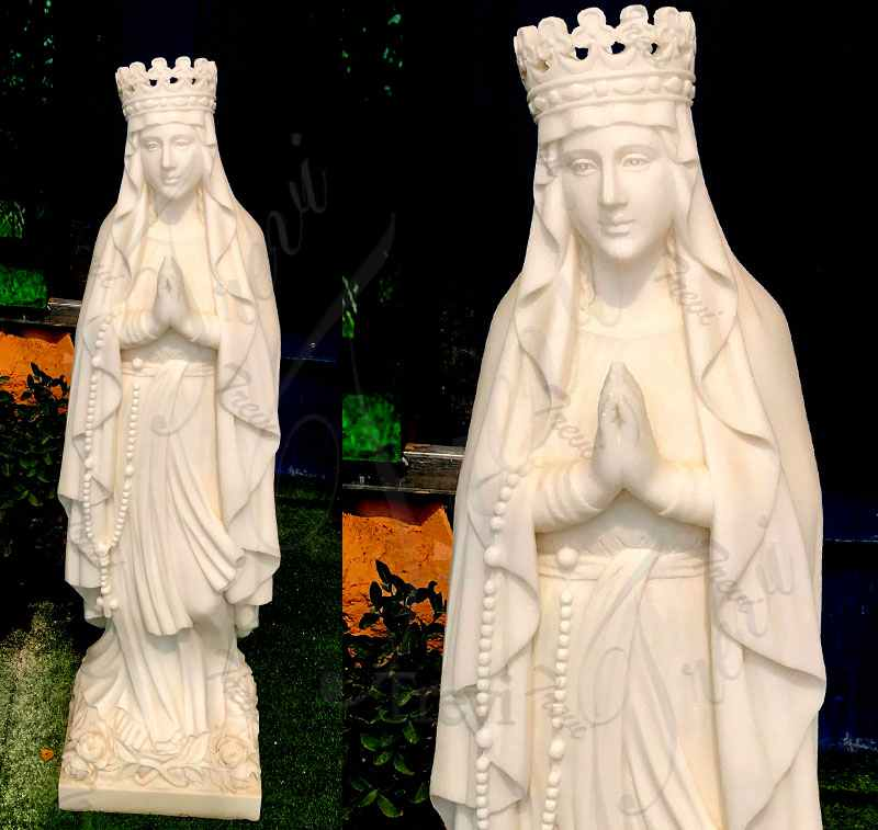 Catholic Garden Praying Mother Madonna Marble Statue