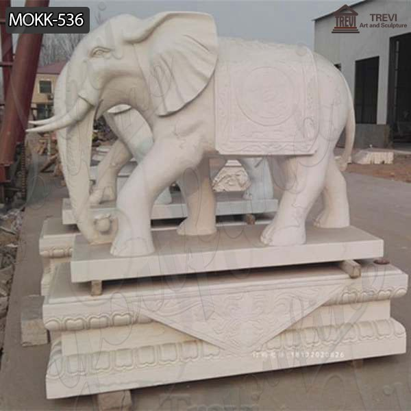 Customized Garden Decoration Marble Animal Elephant Statue Supplier MOKK-536