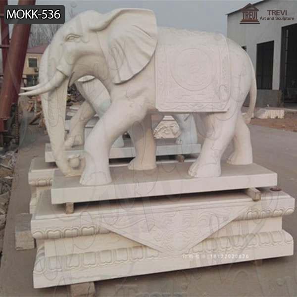 Customized Garden Decoration Marble Animal Elephant Statue Supplier MOKK-536