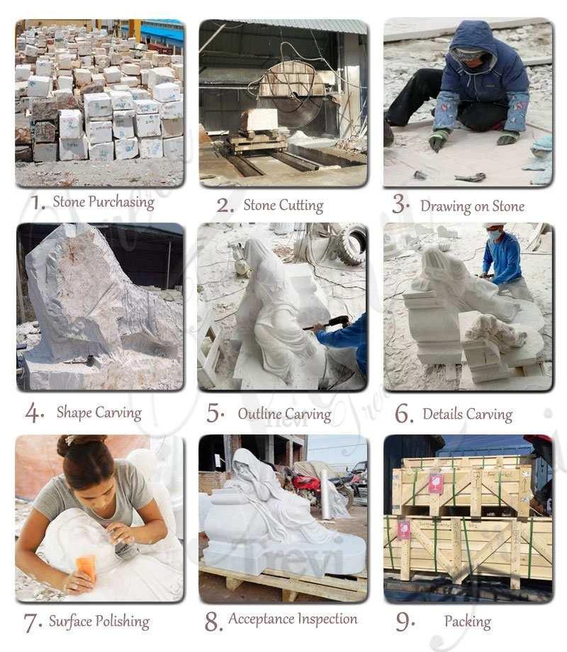Customized Garden Decoration Marble Animal Elephant Statue