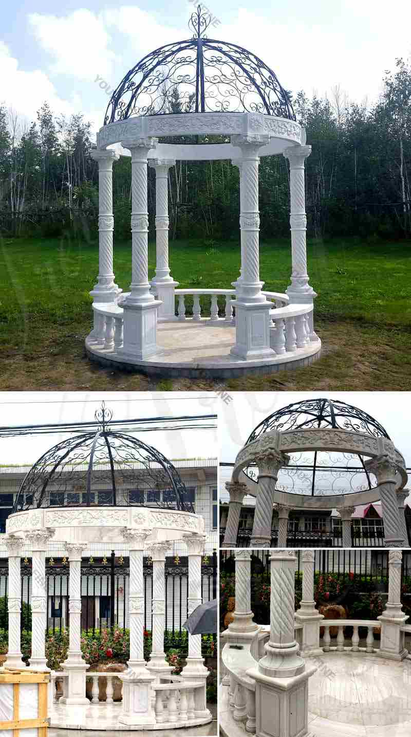 Popular Outdoor Garden Decoration White Marble Gazebo Supplier