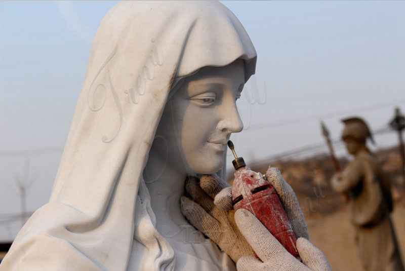 process of Praying Mother Madonna Marble Statue Suppliers