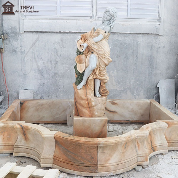 Customized Exquisite Garden Decoration Marble Woman Water Fountain for Sale MOKK-450
