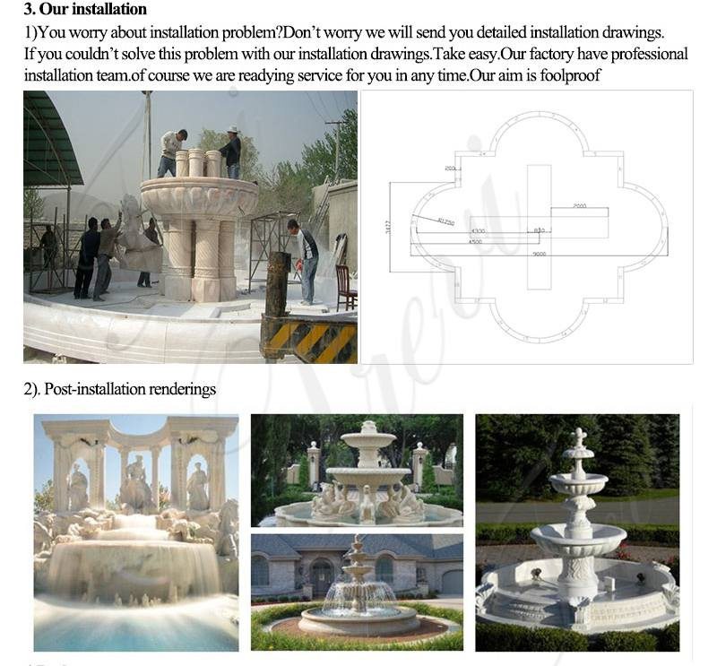 Customized Exquisite Garden Decoration Marble Woman