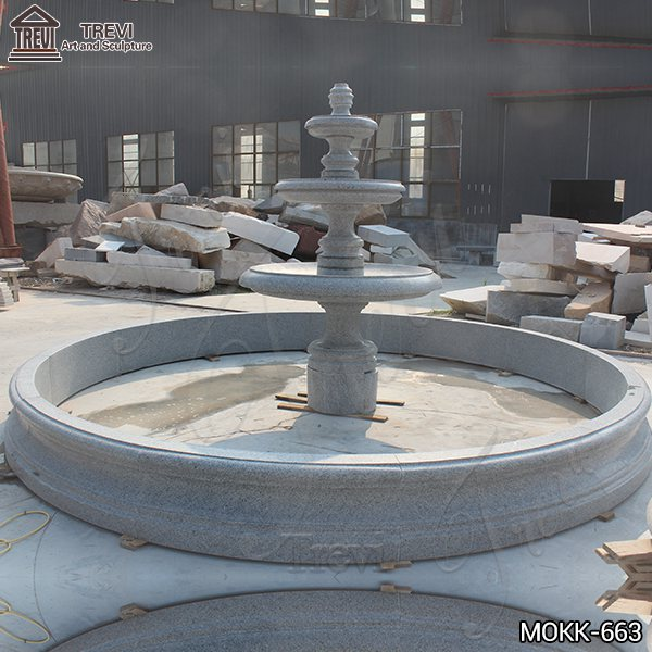 Customized Polished Granite Tiered Fountain Simple Style for Sale MOKK-663