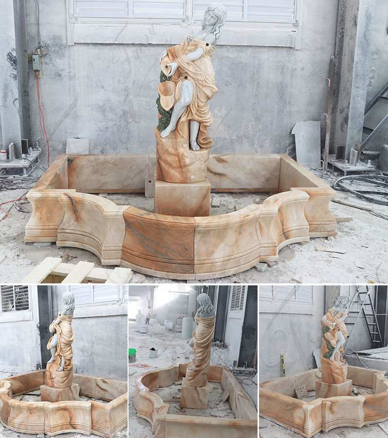 Marble Woman Water Fountain for Sale MOKK-450