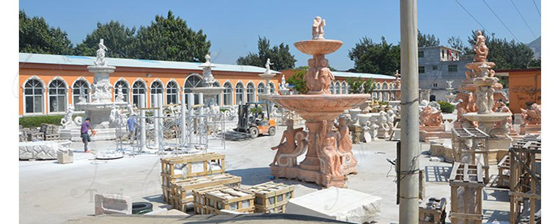 Nice Price Outdoor Home Decoration Stone Fountain Statue for Sale MOKK-556 (2)