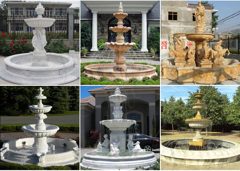 Nice Price Outdoor Home Decoration Stone Fountain Statue for Sale