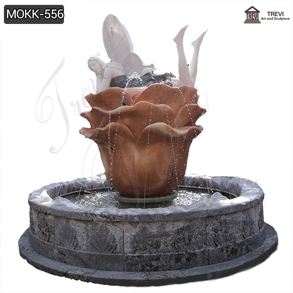 Nice Price Outdoor Home Decoration Stone Fountain Statue for Sale MOKK-556