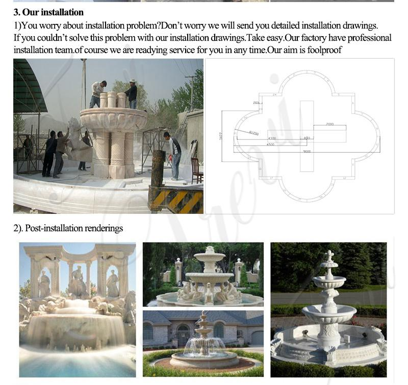 Outdoor Life Size Tiered Fountain Statue Simple Design MOKK-590