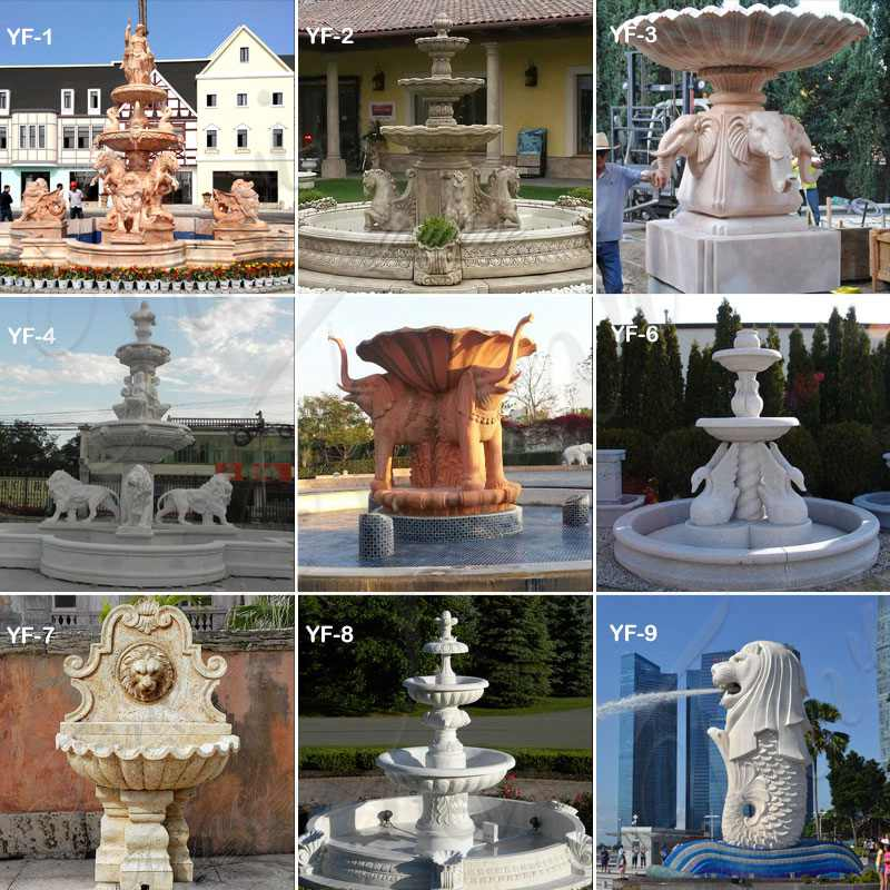 Polished Granite Tiered Fountain Simple Style for Sale MOKK-663