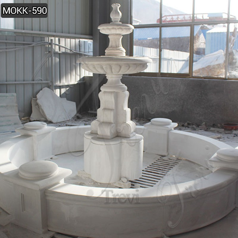 Size Tiered Marble Water Fountain Statue Simple Design MOKK-590