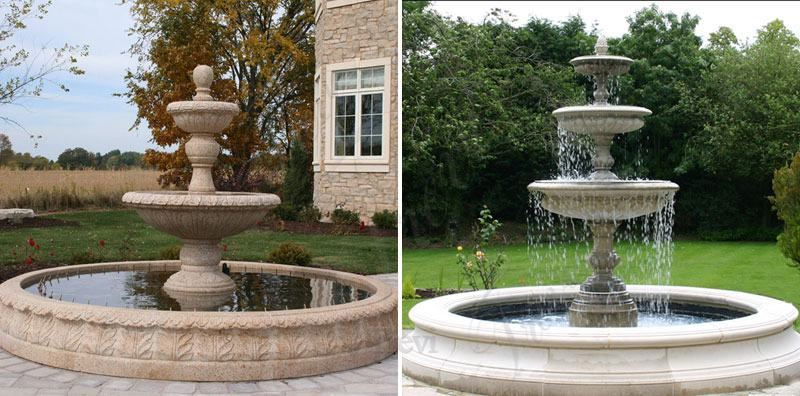marble tiered garden water fountain for sale