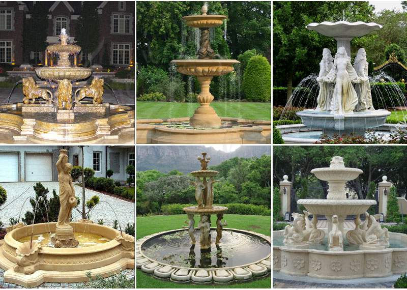 Granite Tiered Water Fountain Manufacturers for Sale MOKK-666