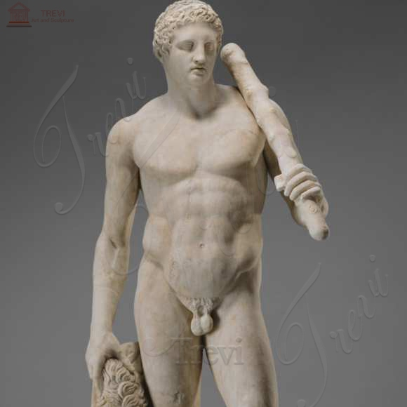 Life Size Marble Man Statue Famous Art God Hercules for sale MOKK-225