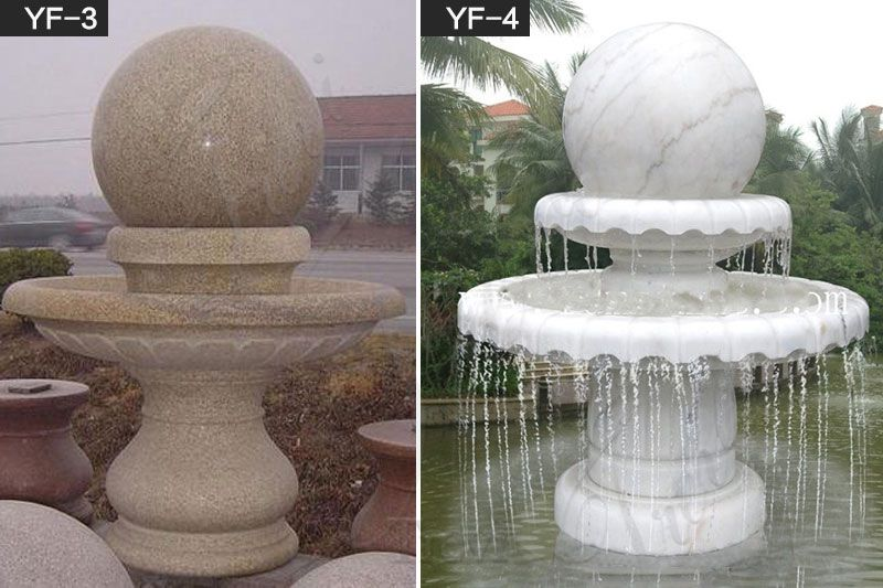 Outdoor Decoration Granite Rotating Ball Water Fountain Made