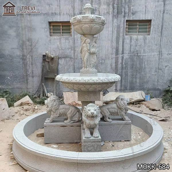 Customized Polished Granite Tiered Fountain Simple Style for Sale MOKK-684