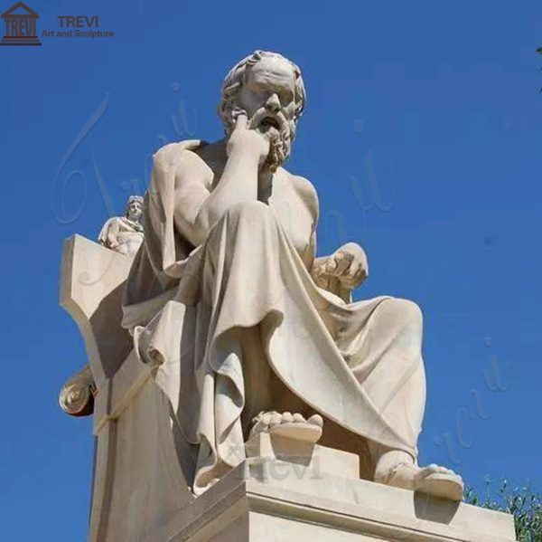 Famous art Statue of the ancient Greek philosopher and
