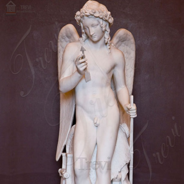 Famous Art Cupid from Thorvaldsen Museum Angel Marble Statue for Sale MOKK-213
