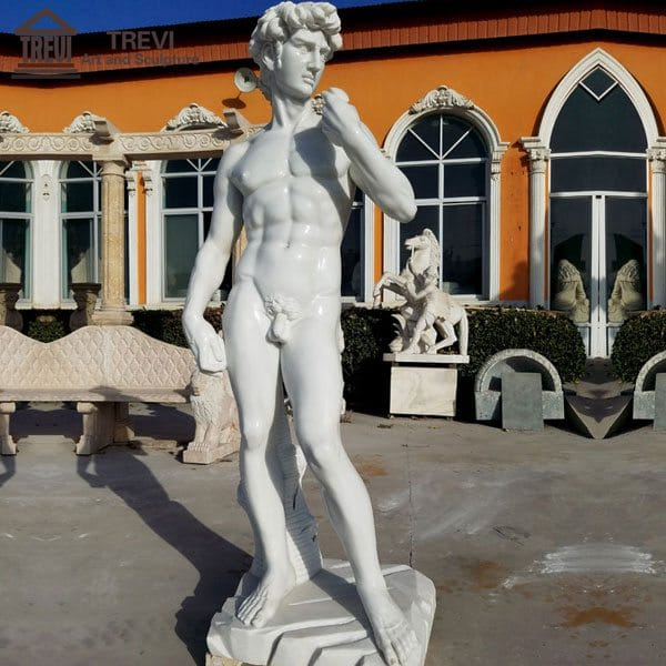 Garden Naked Statue Famous David Marble Statue for Sale MOKK-69