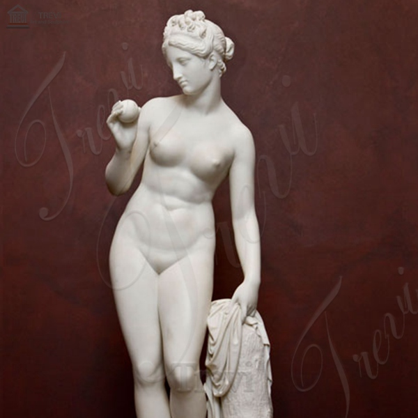 Life Size Famous Marble Venus with Apple Nude Woman statue for Sale MOKK-204