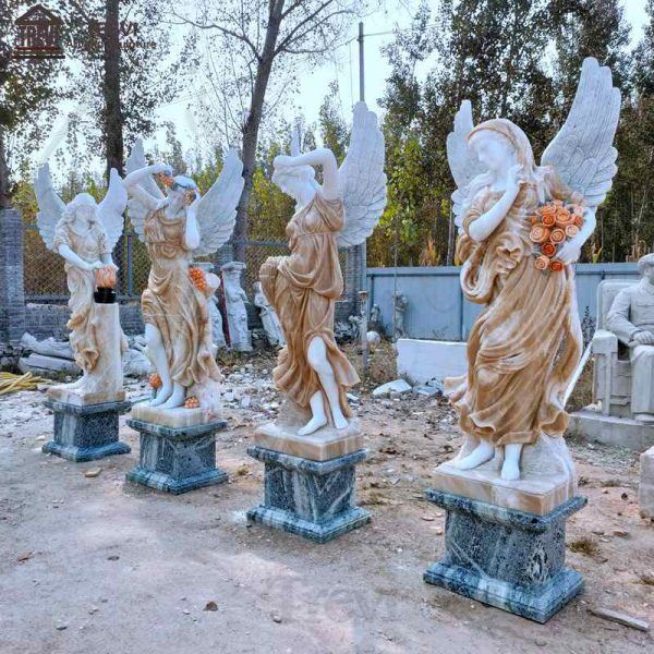 Mixed Colors Seasons Goddess Outdoor Garden Marble Statues Sale MOKK-642