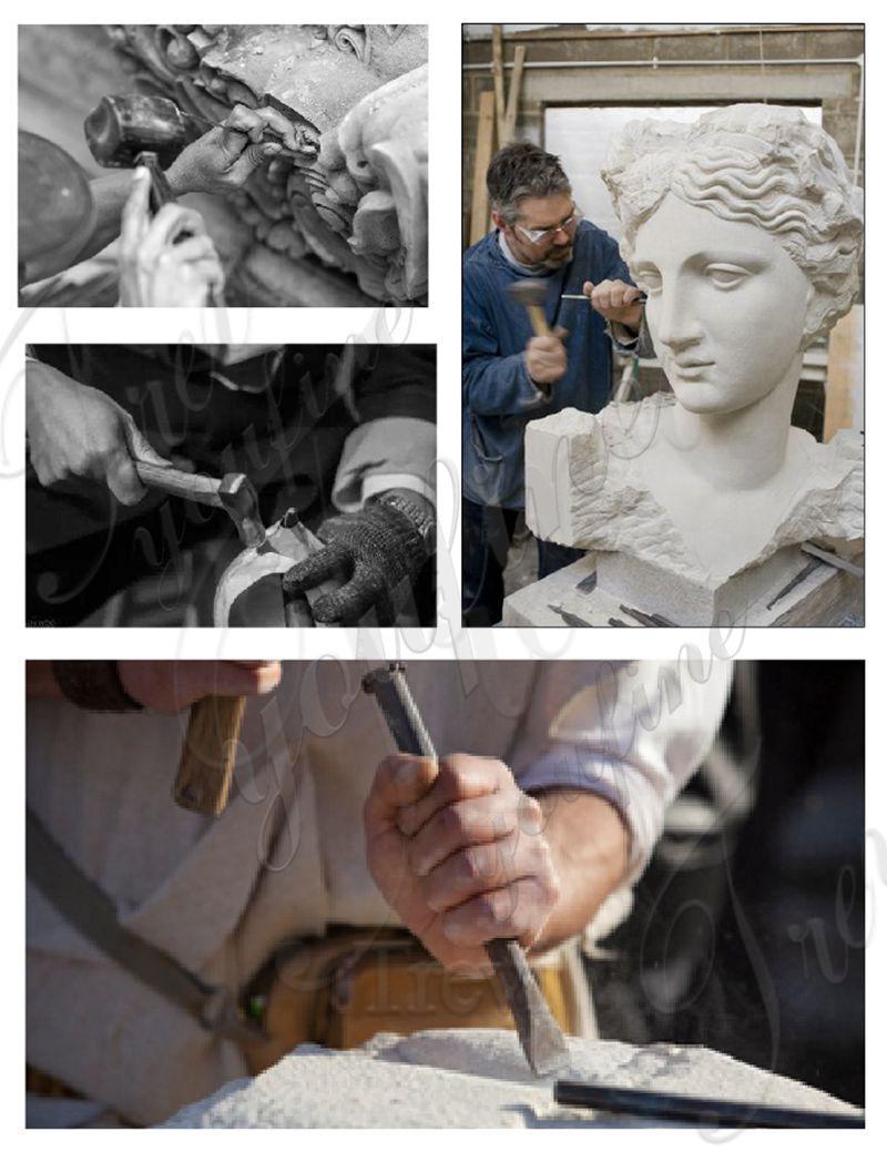 famous art sculptures of Mercury riding Pegasus in Tuileries for Gardens decor