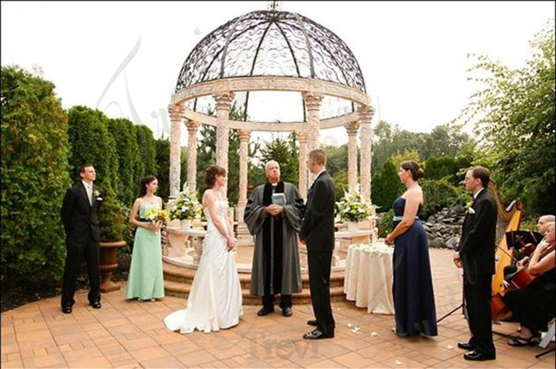 Customized White Marble Gazebo for Wedding Decoration