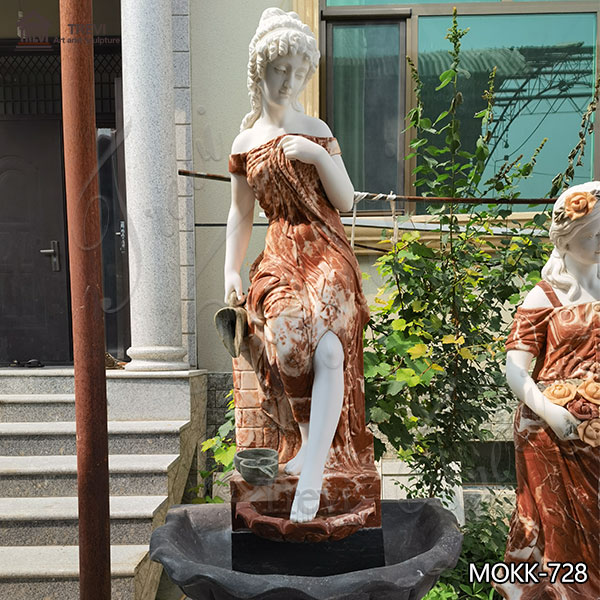 Delicate Marble Woman Water Fountain for Outdoor Decoration Sale MOKK-728