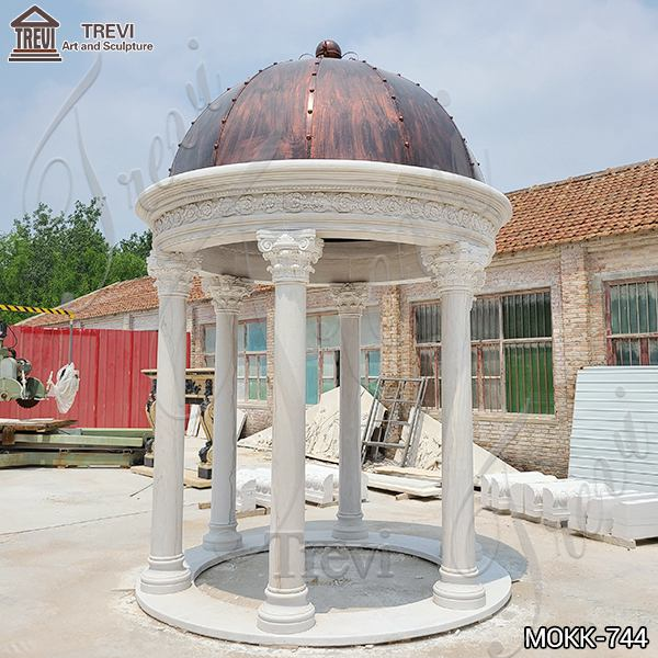 Customized White Marble Gazebo for Wedding Decoration Supplier MOKK-744