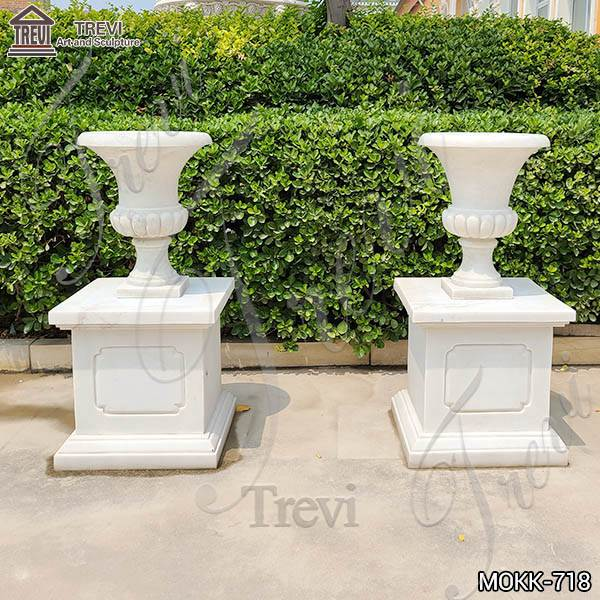 Customized Design Marble Flower Pots for Garden Decoration MOKK-718