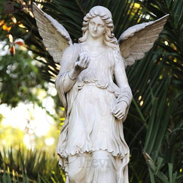 Life Size Garden Marble Angel with Wings Statues for sale MOKK-242