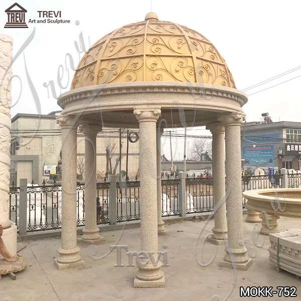 Customized Sandstone Gazebo Garden Decoration China Supplier MOKK-752