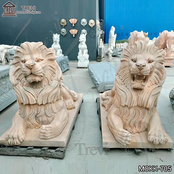 Garden Decoration Outdoor Marble Lion Statue China Supplier MOKK-705