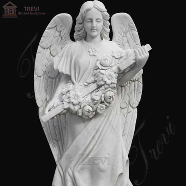 Outdoor Life Size Marble Angel Statue for Garden Ornaments MOKK-262