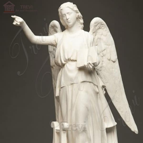 Outdoor Marble Praying Angel Sculpture with Book for sale MOKK-237