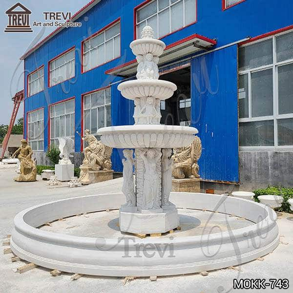 Outdoor Marble Woman Water Fountain Manufacturer MOKK-743