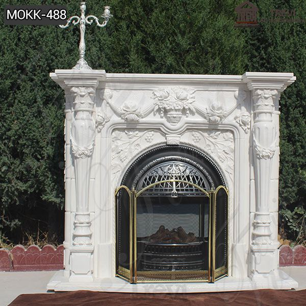 Pattern Design Marble Fireplace Surround French Design for Sale MOKK-488