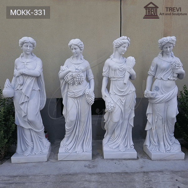 Seasons Goddess Outdoor Marble Garden Statue for Sale MOKK-331