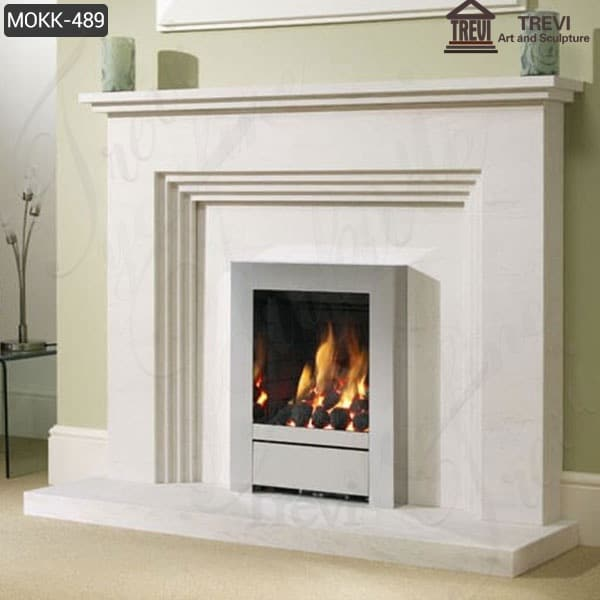 Modern Natural Marble Fireplace suround for Sale MOKK-489