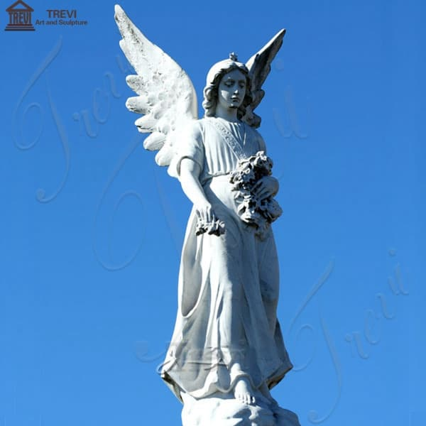 Large Avenger Angel Marble Garden Statue for Square Ornaments BOKK-265
