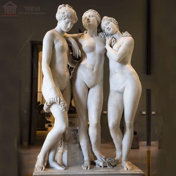 Classical Marble Garden Statue Three Graces for Decor MOKK-212