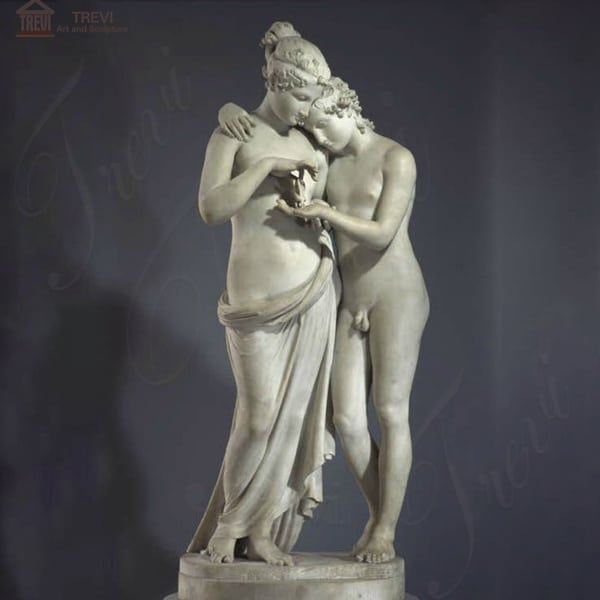 Life Size Cupid and Psyche Marble Garden Statue for Sale MOKK-317