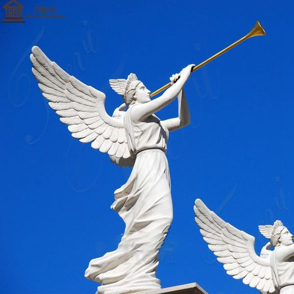 Large Famous Angel Marble Garden Statue Square Decoration MOKK-276