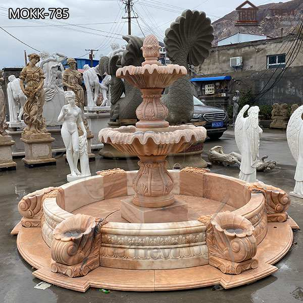 Tiered Outdoor Marble Water Fountain China Manufacturer MOKK-785