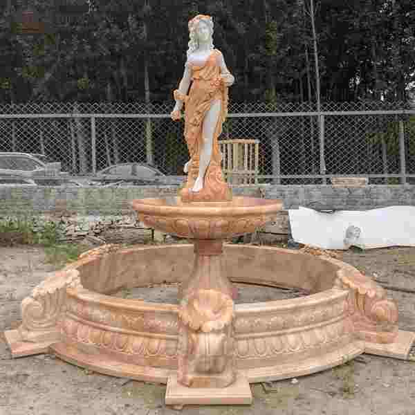 Garden Decoration Marble Woman Water Fountain for Sale MOKK-786