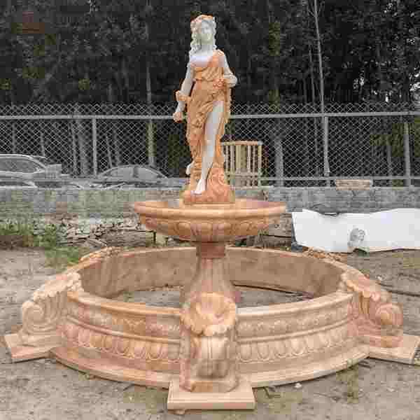 Garden Decoration Marble Woman Water Fountain for Sale MOKK-786