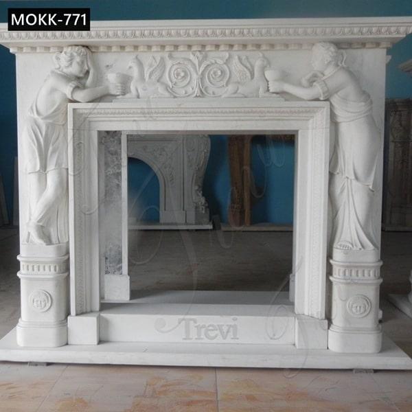Marble Figure Fireplace Surround China Factory for Sale MOKK-771